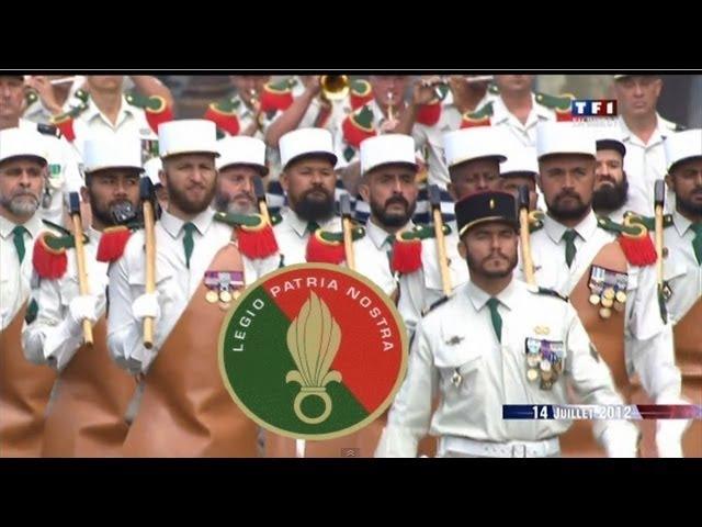 LEGIO PATRIA NOSTRA.La légion étrangère.French Foreign Legion .Défilé 14 juillet 2012