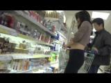 Stalking chinese girl on supermarket
