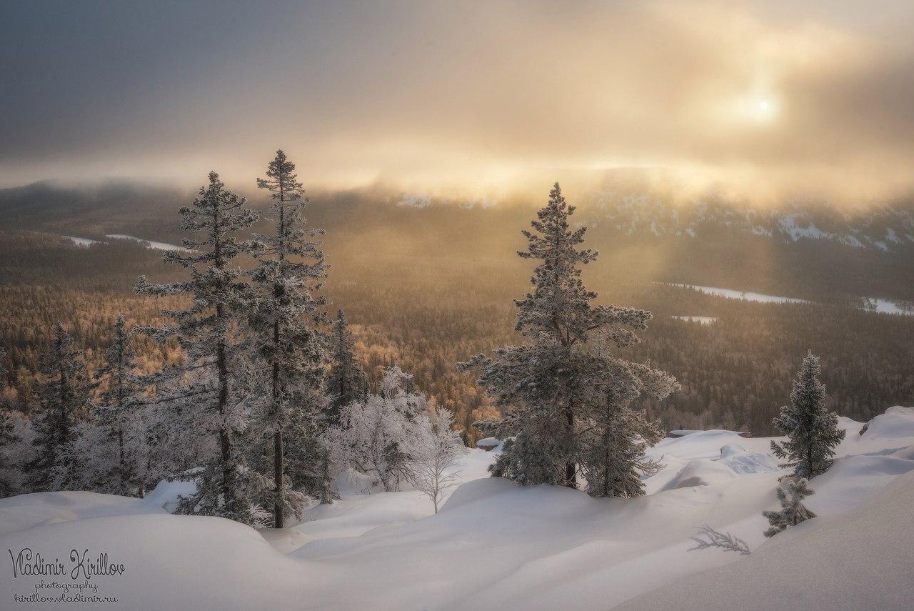 """Рассвет в облаках в парке """"Таганай"""" 2016."""
