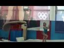 Аня Крайнова прыжок 2я попытка! 2.04.2016
