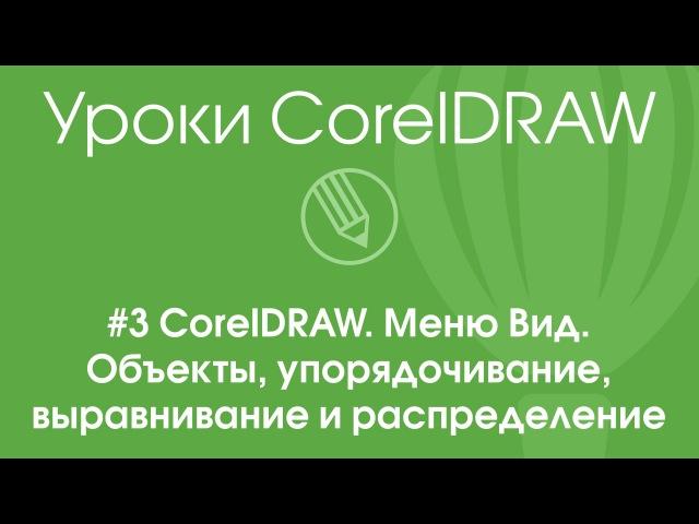 3 CorelDRAW. Меню Вид. Объекты, упорядочивание, выравнивание и распределение