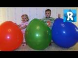 Огромные Шарики-Яйца с Сюрпризами Minecraft, LEGO Simpsons, Лопаем Шар Furby Giant Balloons Surprise