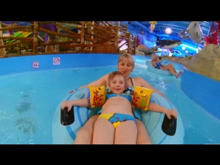 Anna Kids - Киев Аквапарк Юрского Периода в Дрим Таун Анютке три годика Waterpark Jurassic in the Dr