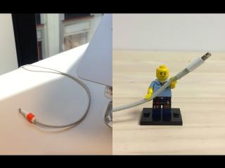 Держатель для провода из Lego