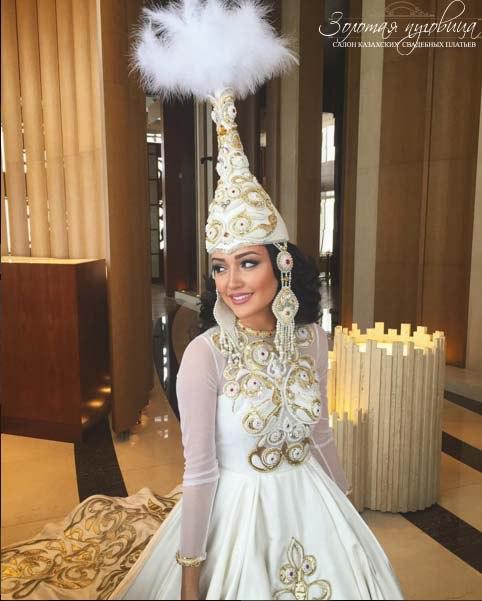 Свадебная казахская платья