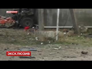 Появилось первое видео с места взрыва в Назрани