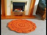 Ажурный коврик из шнура МК 1-3 ряды для начинающих
