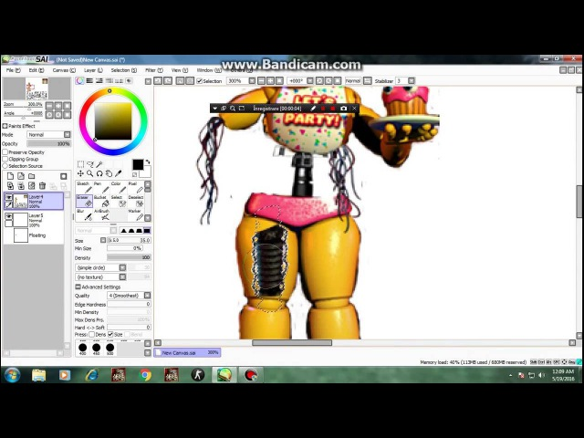 [FNAF SpeedEdit] Making Withered Toy Chica