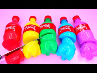 How To Make Rainbow Coca Cola Drinking Water Pudding Jelly Cooking Learn Recipe DIY 리얼 콜라 푸딩 젤리 만들기
