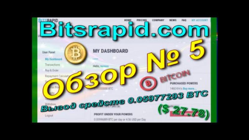 Bitsrapid com Обзор № 5 Вывод средств 0 05977293 BTC $ 27 78