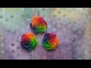 Rainbow glitter resin rose tutorial