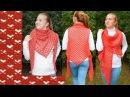 Вязание крючком для начинающих Шаль трансформер бактус Узор сердечки крючком crochet