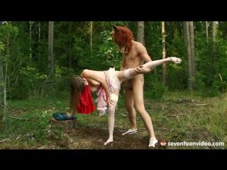 Порно с медведем в лесу