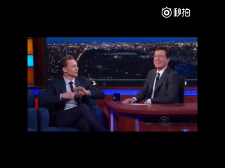 Tom Hiddleston on The Late Show with Stephen Colbert March 28, 2016