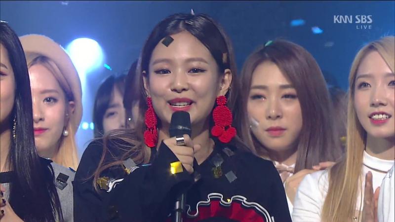 160911 인기가요 1위(Win) 블랙핑크(BLACKPINK) 〈휘파람(WHISTLE〉 @ Inkigayo