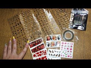 Товары из Китая - наклейки для ногтей, фольга, золотистые полоски (Aliexpress)