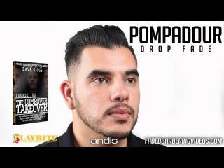HOW TO: Pompadour w/ Drop Skin Fade w/beard styled w/ Layrite | HD 1080p