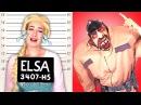 Frozen Elsa is Arrested! w/ Spiderman Poison Ivy, Pink Spidergirl, Anna, Rapunzel Superman