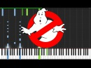 Ghostbusters Theme (2016) [Piano Tutorial] (Synthesia) The Wild Conductor