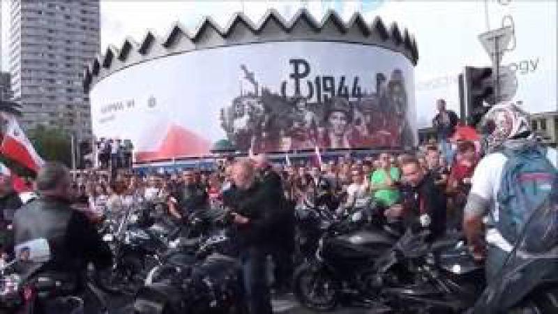 Godzina W 2016 Rondo Dmowskiego V Marsz Powstania Warszawskiego