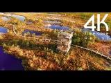 4K UHD Kemeri National Park Boardwalk in the Grand Bog Timelapse/Aerial Video in Latvia