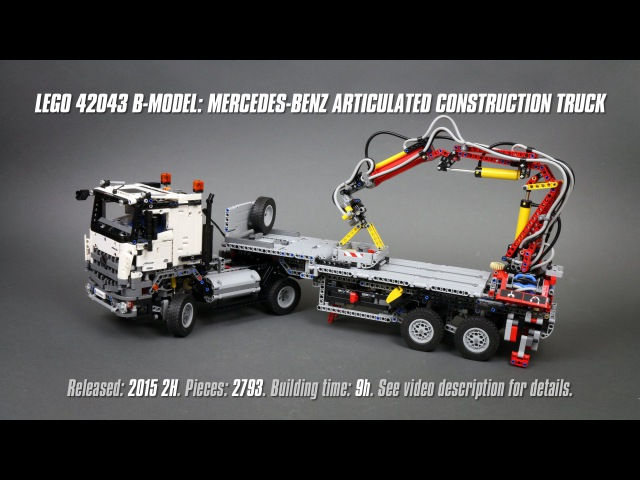 'Lego Technic 42043 B-model: Mercedes-Benz Articulated Construction Truck' Speed Build Review
