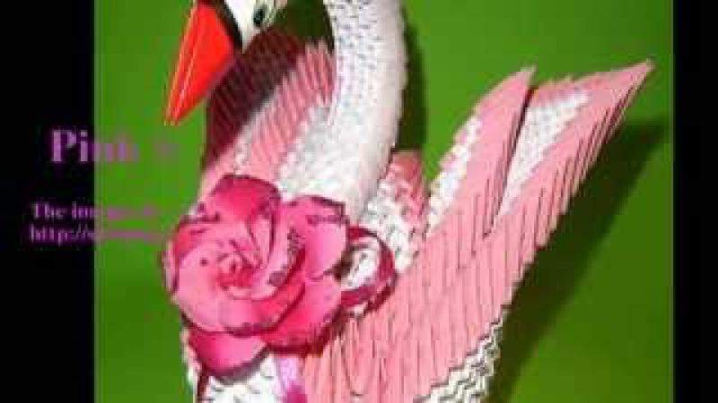 How to make 3D Origami Pink Swan? Hướng dẫn xếp thiên nga Origami 3D (Ori 3D shop)