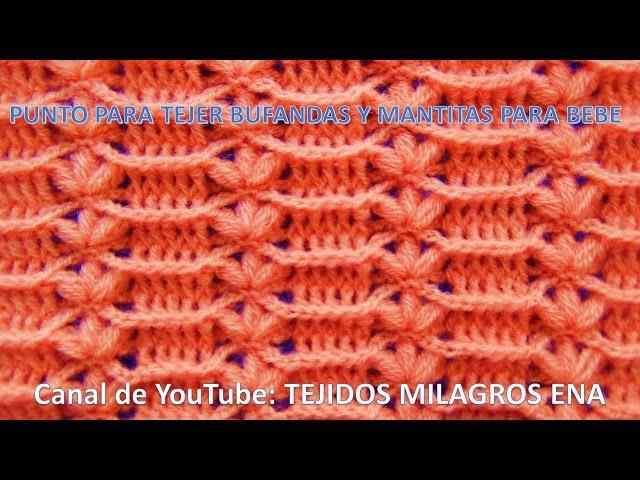 Punto tejido a crochet FLORES combinado con RELIEVES para mantitas y cobijas de bebe paso a paso