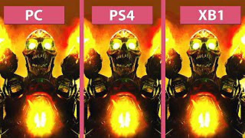 DOOM – PC (Max) vs. PS4 vs. Xbox One Graphics Comparison