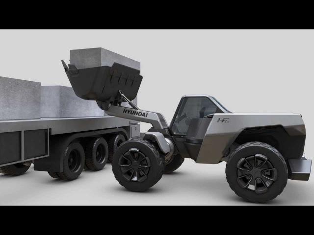 Hyundai construction equipment concept model wheel loader (HeavyTech Limited Liability Company)