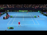 Andy Murray Hits Hot shot in Davis cup 2016