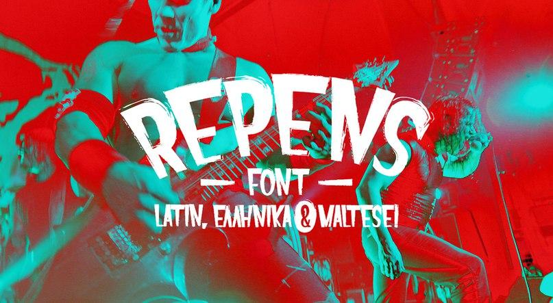 Repens-Normal шрифт скачать бесплатно