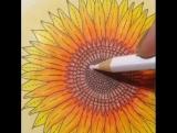 Блик акварельным карандашом