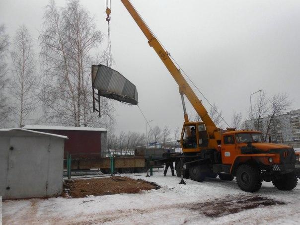 Демонтаж металлических гаражей продолжается