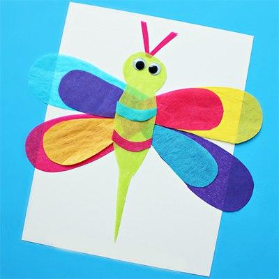 Аппликации из цветной бумаги для детей 4-5 лет
