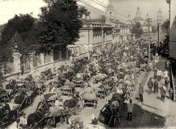 Пробка в Москве, 1923 год.