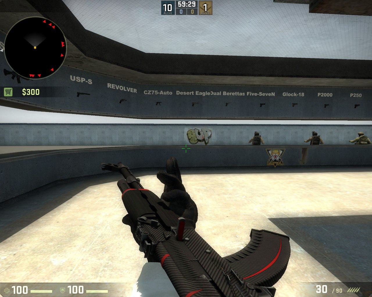 """AK-47 Red Line с наклейкой """"Утренний вой"""""""