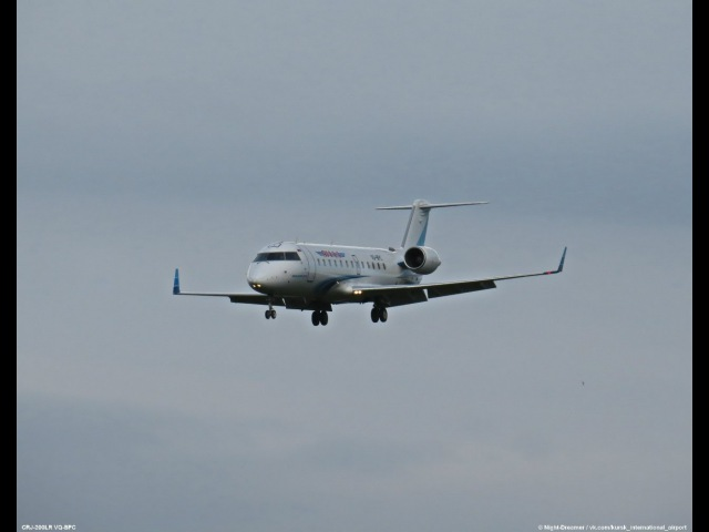 CRJ 200 VQ BPC Yamal airlines landing in airport Kursk