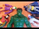 Бэтмен vs Джокера Бэтмен и Халк спасают Робина Мультик для детей