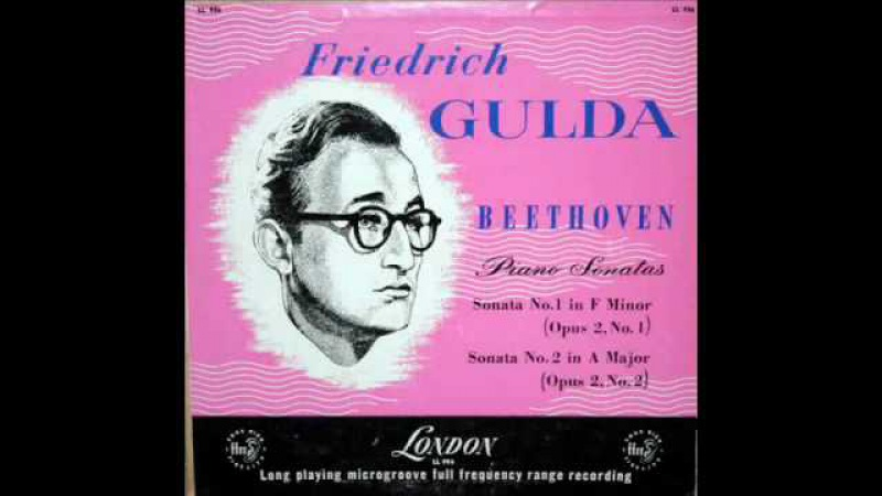 LV Beethoven / Friedrich Gulda: Sonata No. 1 in F minor, Op. 2, No. 1 (1) - London, 1954