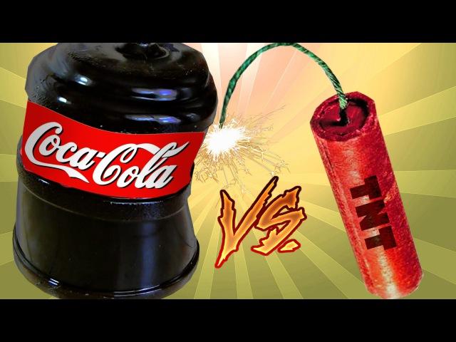 Coca-Cola из ЖЕЛЕ 20Л VS ПЕТАРДА Slow Motion ПИВО из ЖЕЛЕ