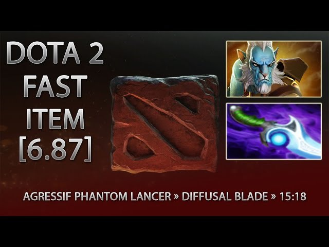 Dota 2 Fast Item - Agressif Phantom Lancer » Diffusal Blade » 15:18 [6.87]