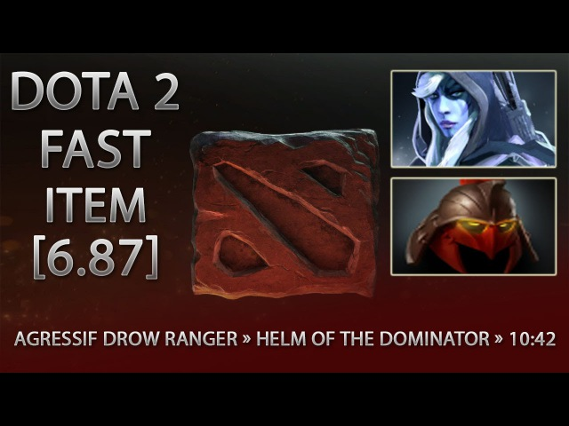 Dota 2 Fast Item - Agressif Drow Ranger » Helm of the Dominator » 10:42 [6.87]