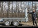 Прицеп для Bobcat - мини экскаватора, катка, трактора. МЗСА 842111.201. Трап для прицепа. ЦЛП АРИВА