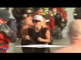 Леди Гага и Тейлор Кинни на «Chicago Polar Plunge» в Чикаго (6 марта)