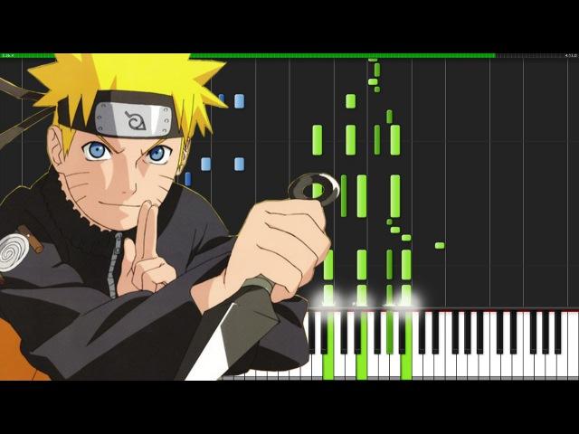 Blue Bird - Naruto Shippuuden (Opening 3) [Piano Tutorial] (Synthesia) Animenz