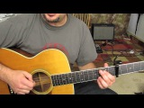 Mumford and Sons - Little Lion Man - How to Play on Acoustic Guitar - Lesson Tutorial