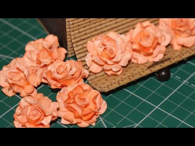 Как сделать цветы из бумаги. Мастер класс. Скрапбукинг.