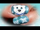 Sweet Xmas Polar Bear & Snowflakes nails - tutorial nail art orsetto polare x Natale