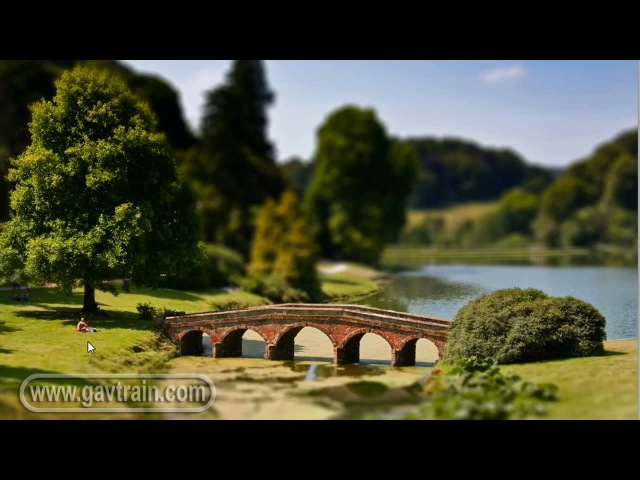 (HD) Fake miniature model, tilt shift lens effect - Photoshop Week 36
